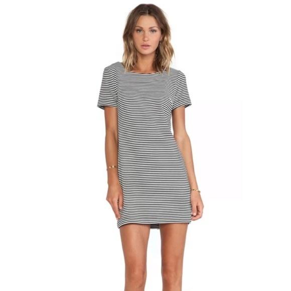 Splendid Dresses & Skirts - Splendid Striped Black & White Short Shift Dress